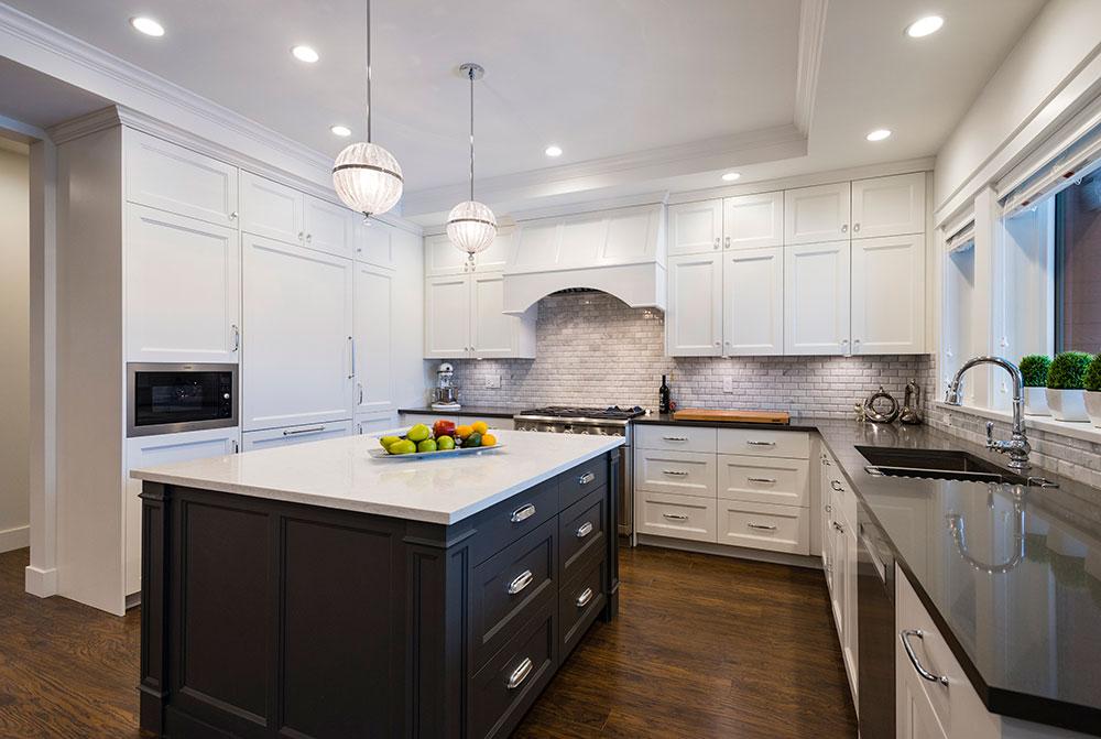 Custom Home construction kitchen