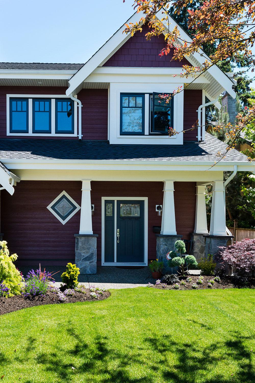 Custom Home Construction exterior entryway