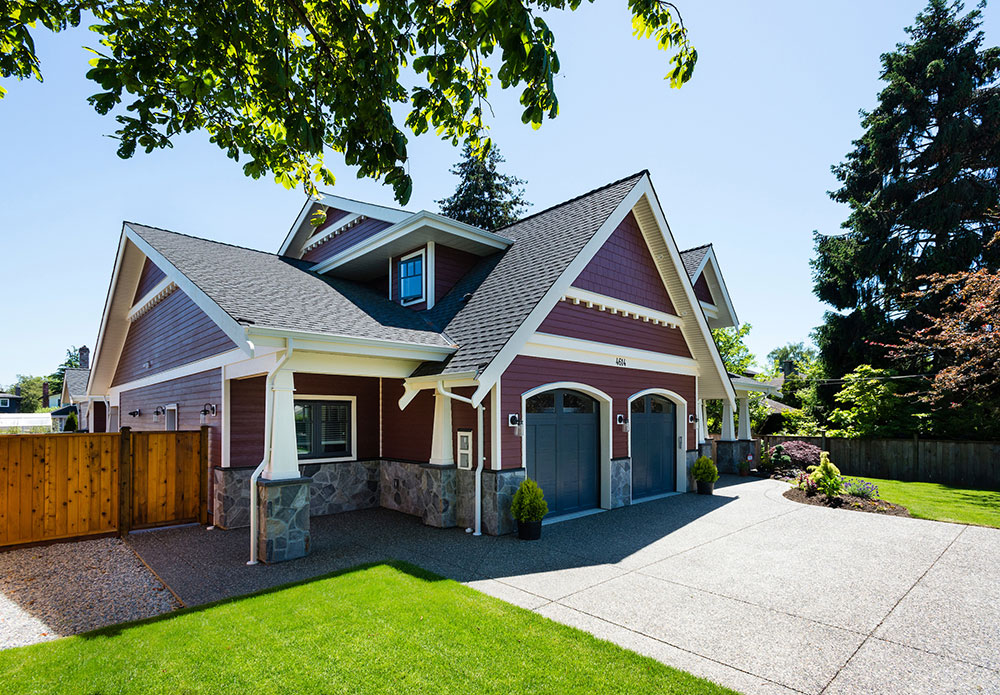 Custom Home Construction exterior in Ladner BC