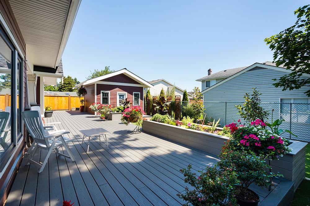 Custom Home Construction exterior veranda