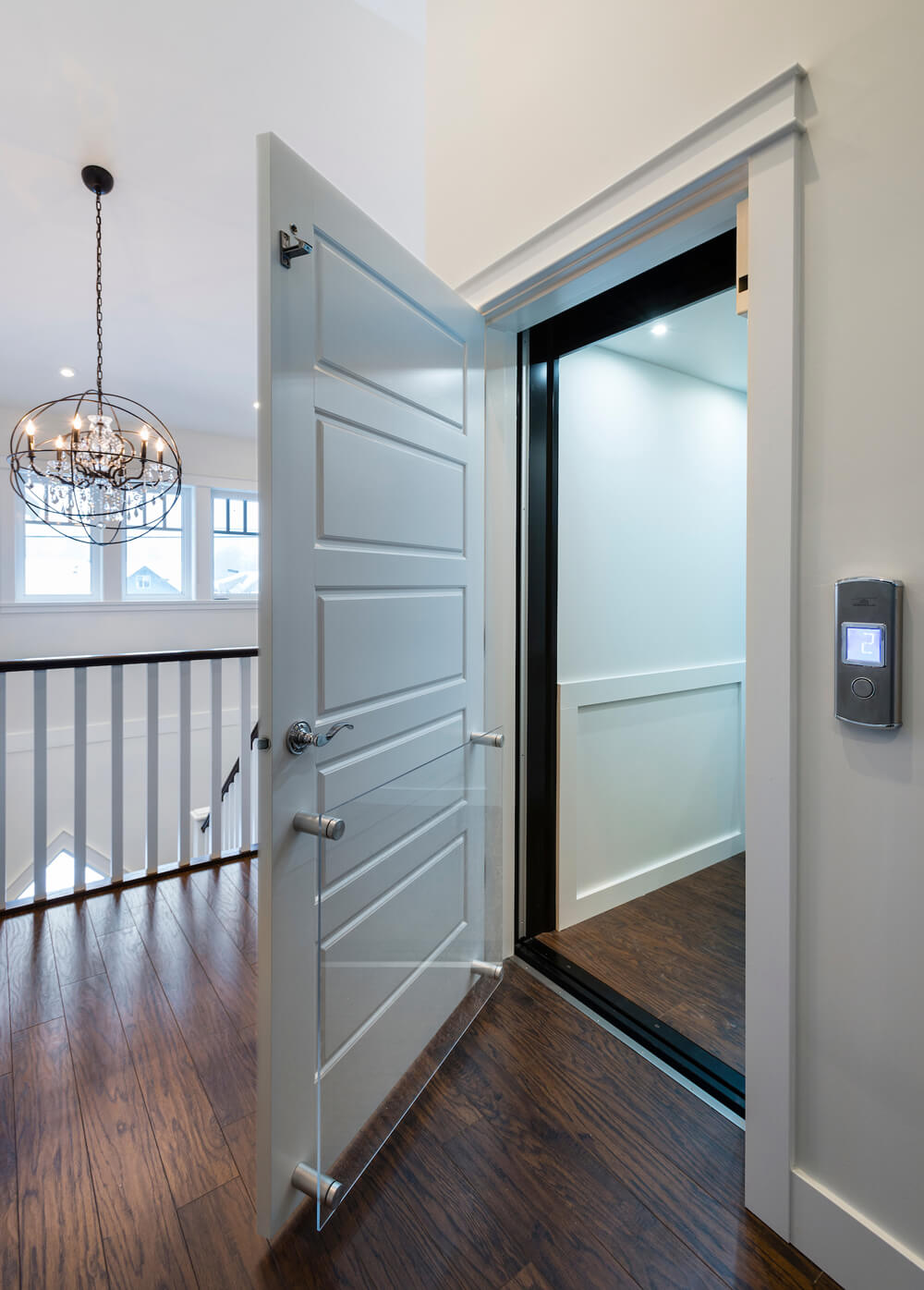 custom home build with elevator
