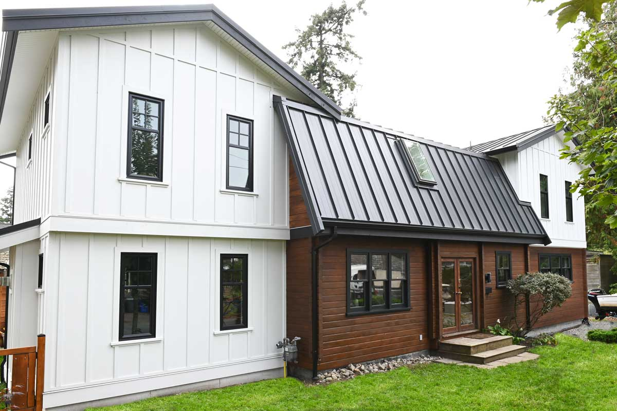 renovated house exterior using BASF wall system