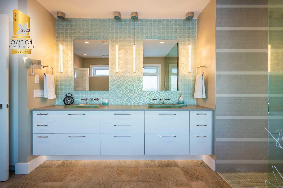 bathroom renovation mosaic til