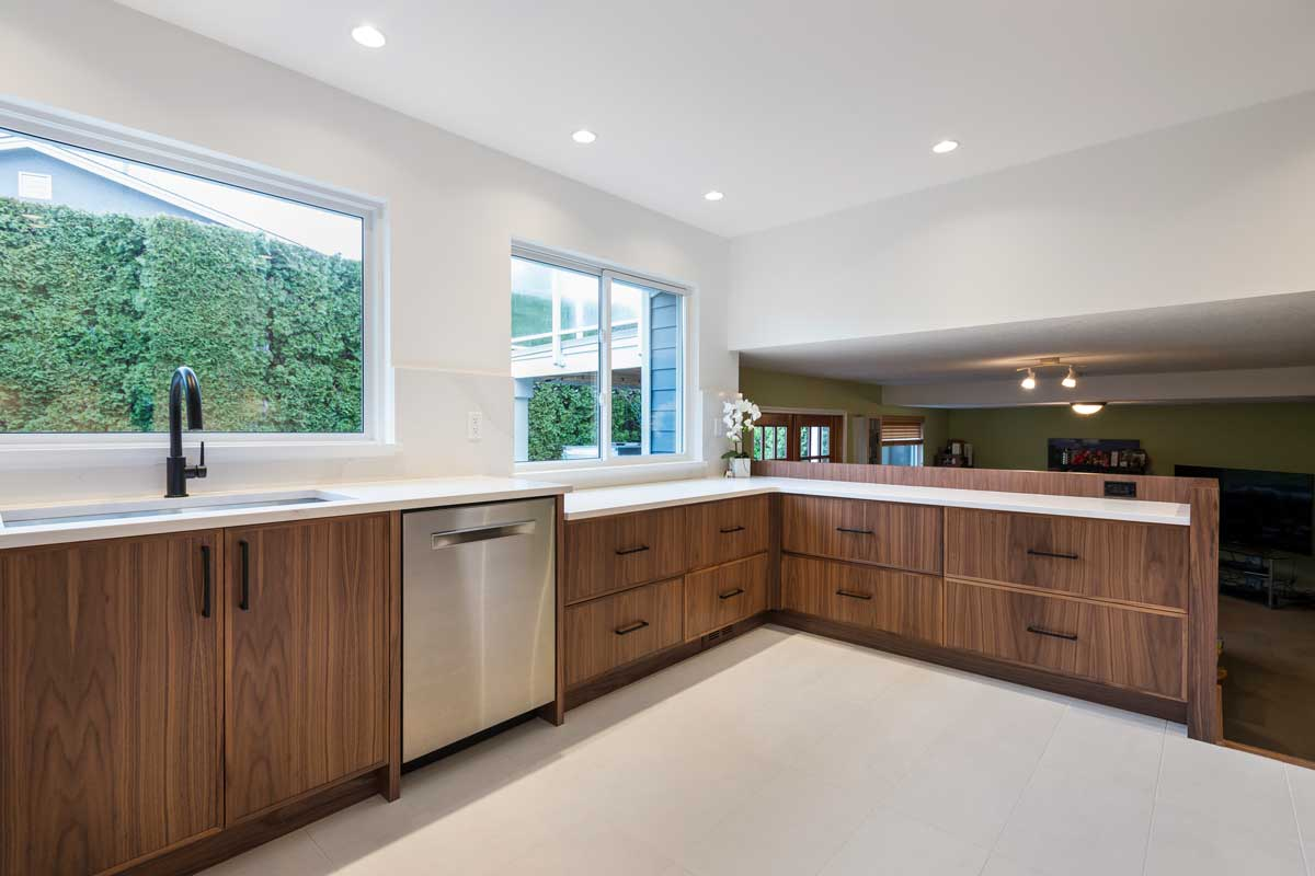 kitchen renovation open layout bright