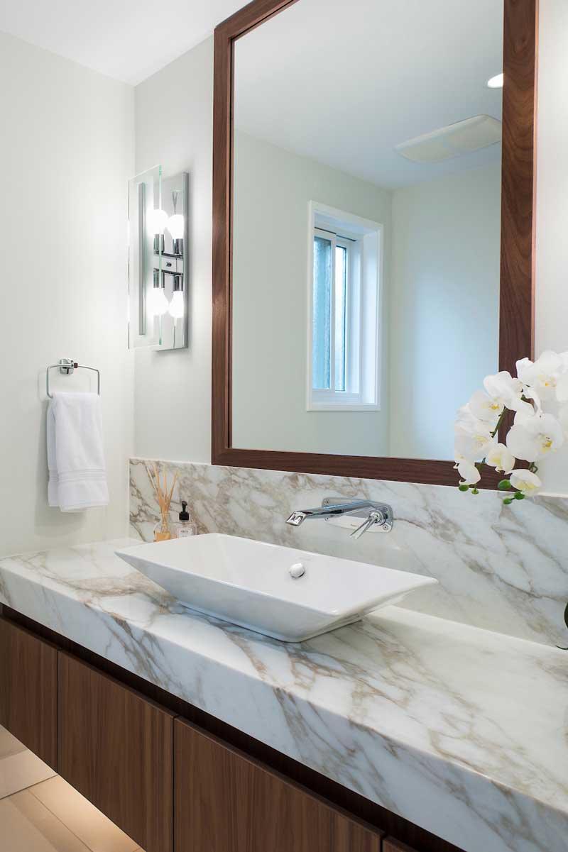 bathroom renovation sink marble