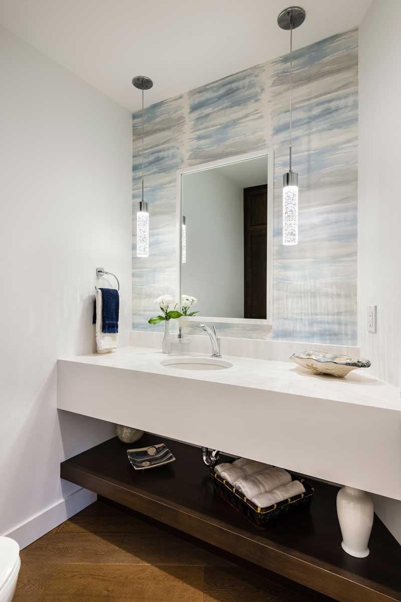 bathroom renovation sink counter