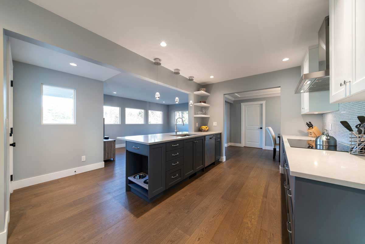 renovated house interior kitchen