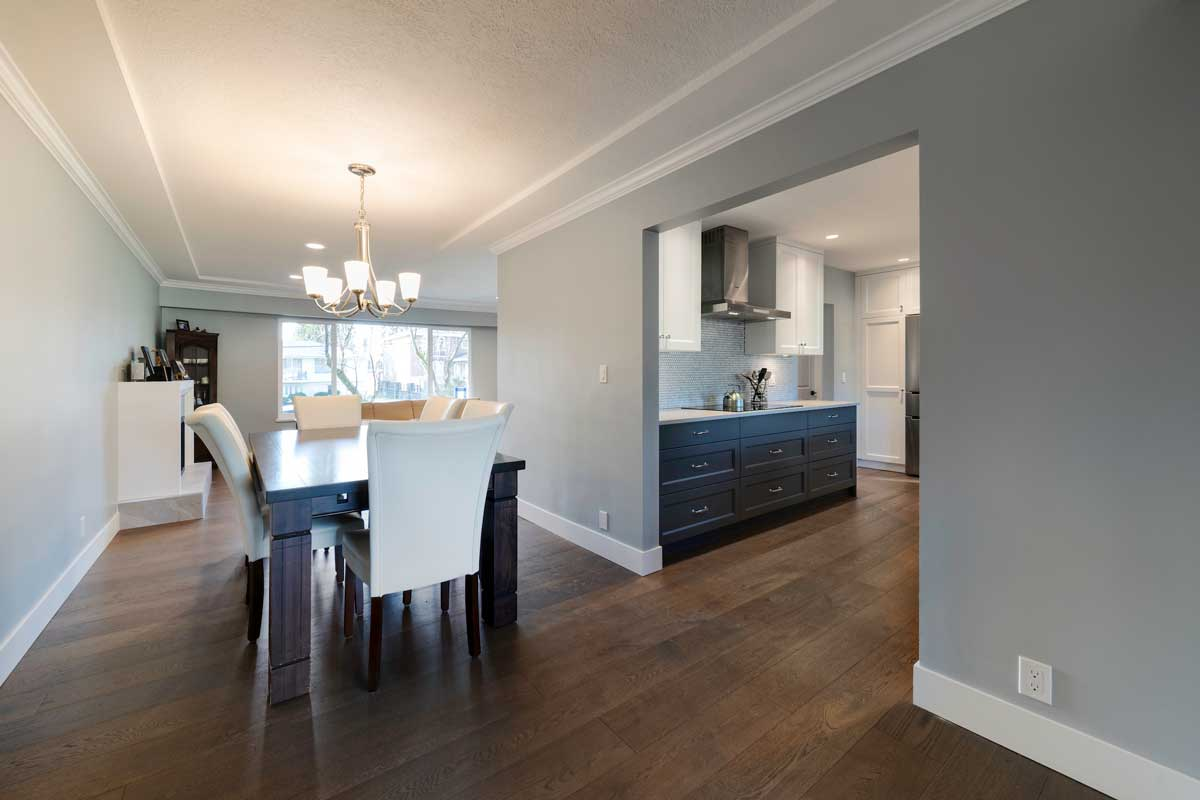 renovated kitchen dining table