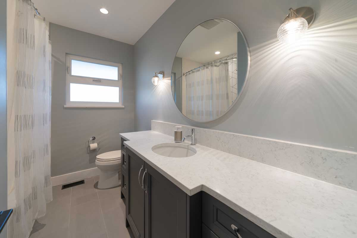 renovated bathroom counter sink
