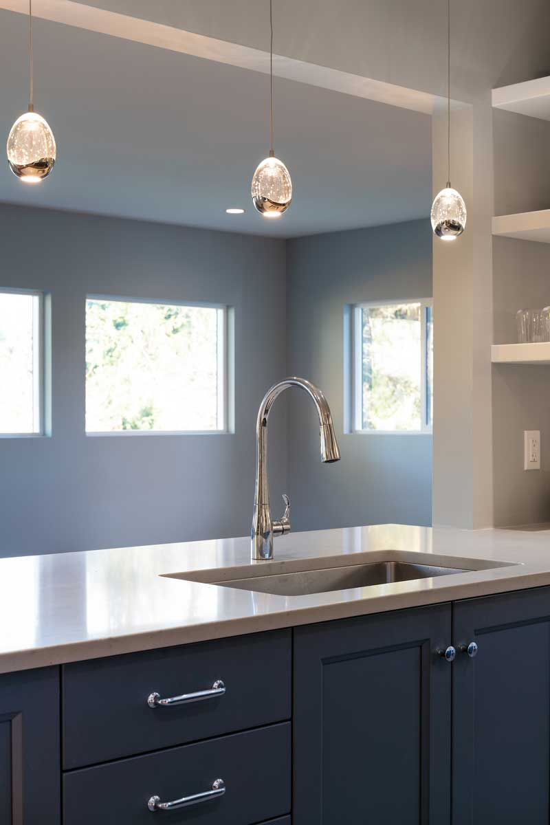 renovated kitchen sink faucet